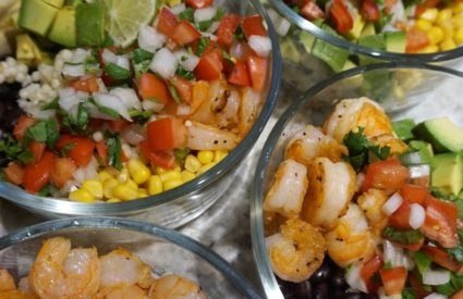 Avocado Shrimp Bowls